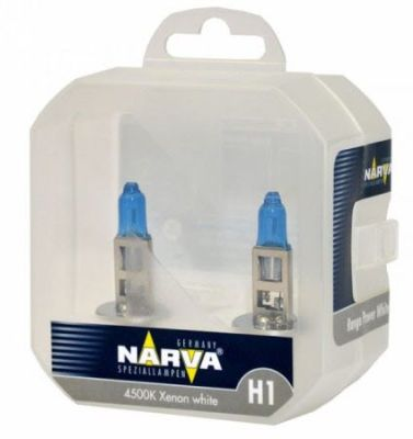TWIN SET lampade NARVA H1 RANGE POWER WHITE